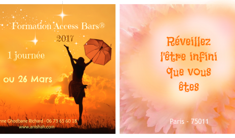 Access Consciousness BARS® Paris – 1 journée de  Formation   :  26  Mars /  7 – 8 – 22 Avril 2017